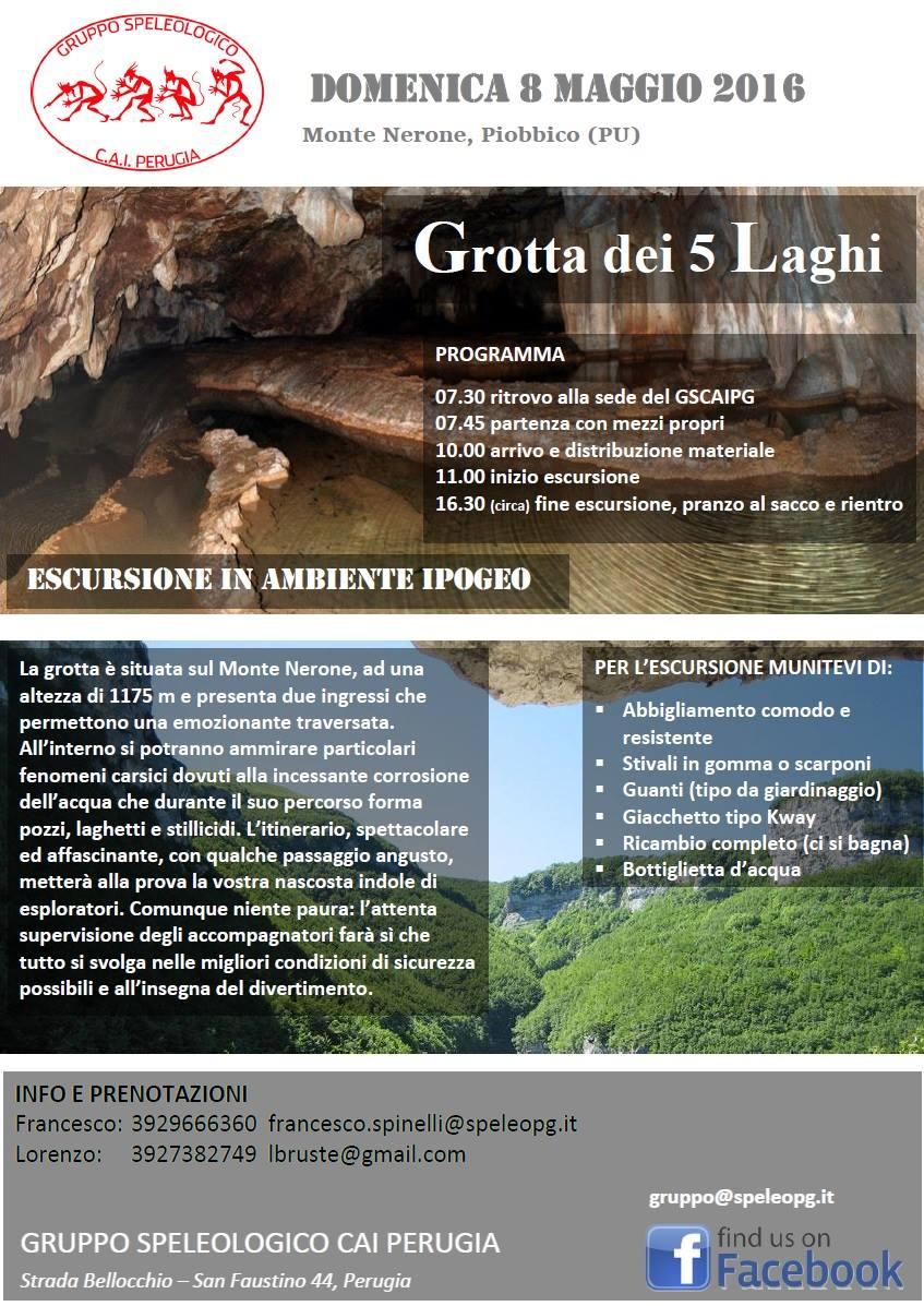 """Escursione alla Grotta dei """"Cinque Laghi"""""""