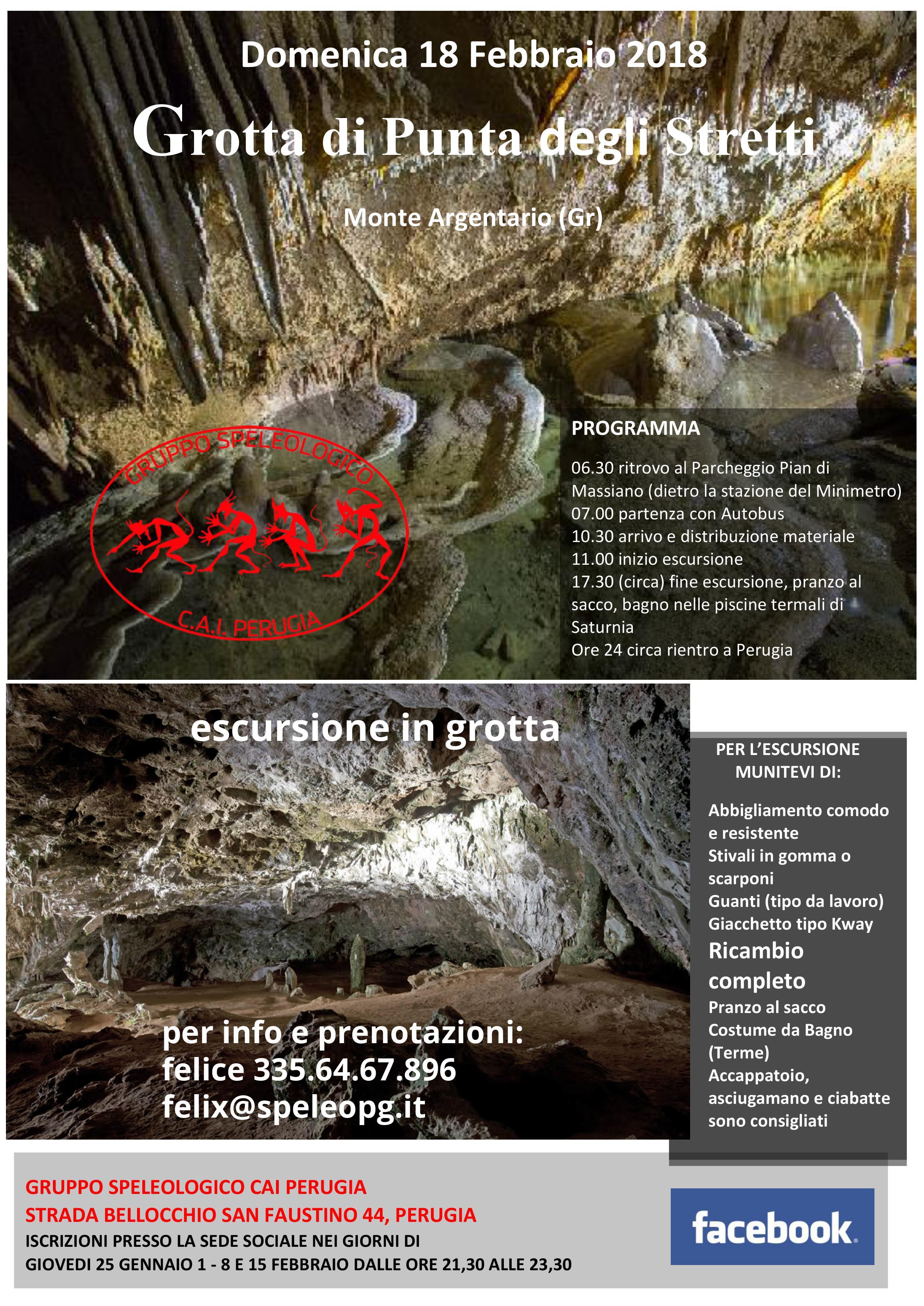 Escursione alla Grotta di Punta degli Stretti